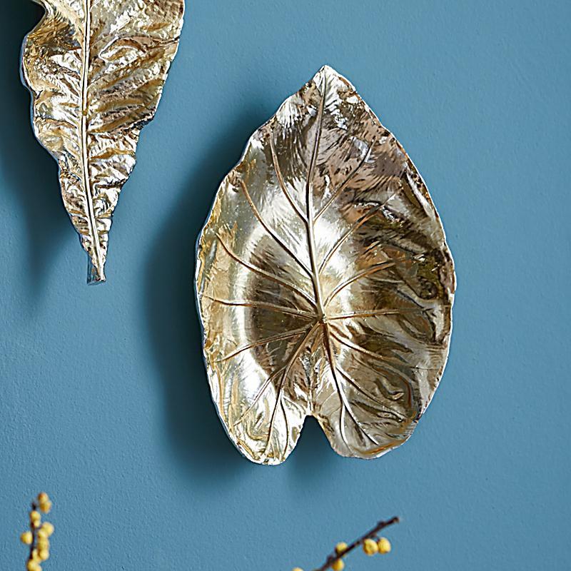 Miavilla Wanddeko Leaf Goldfarben Jetzt Bei