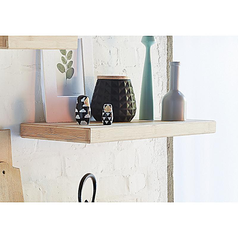 miavilla wandregal bamboo braun mittel bestellen. Black Bedroom Furniture Sets. Home Design Ideas