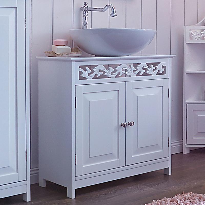 miavilla waschbeckenunterschrank romance weiss. Black Bedroom Furniture Sets. Home Design Ideas
