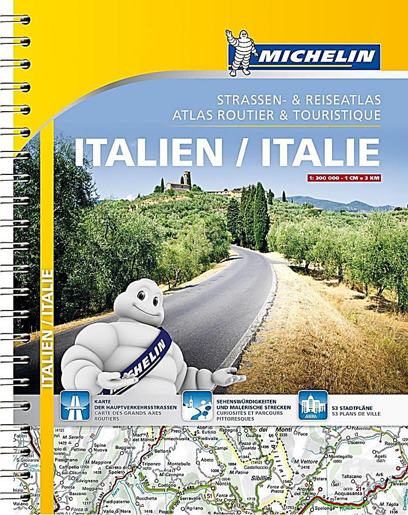 michelin stra en und reiseatlas italien michelin atlas routier touristique italie buch. Black Bedroom Furniture Sets. Home Design Ideas