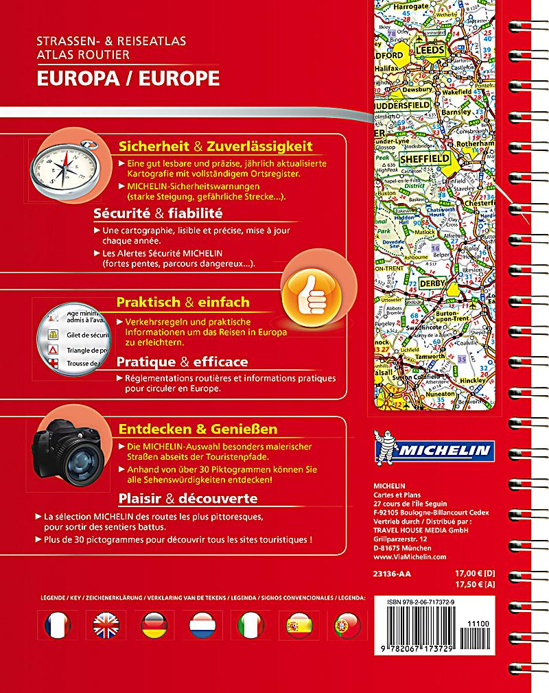 michelin strassenatlas europa michelin atlas routier europe buch. Black Bedroom Furniture Sets. Home Design Ideas