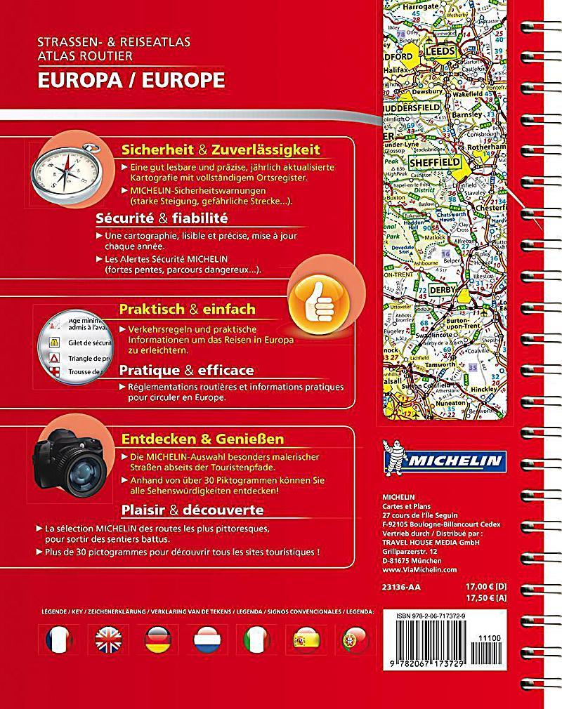 michelin strassenatlas europa michelin atlas routier europe buch. Black Bedroom Furniture Sets. Home Design Ideas