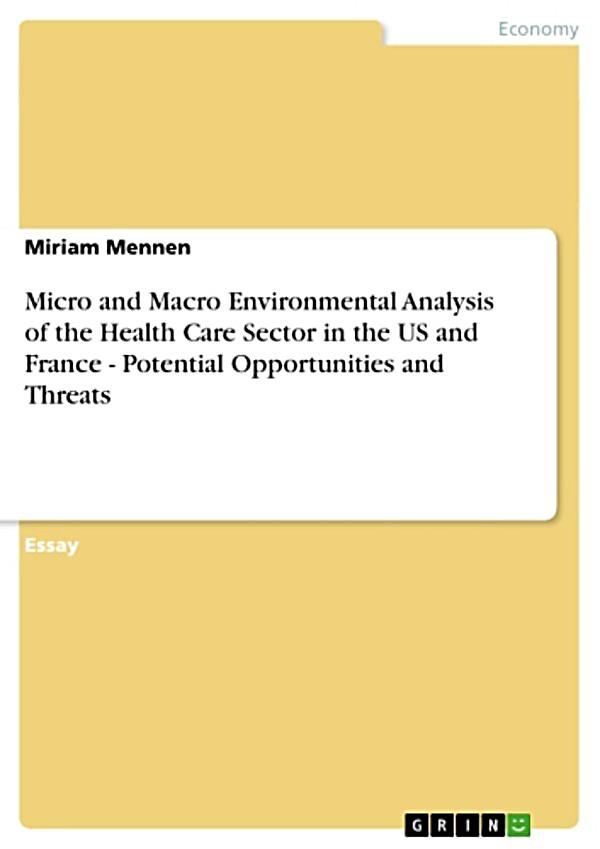 analysis of health care external environment The external environment's effect on management and strategy depth interviews and document analysis to collect data from two.