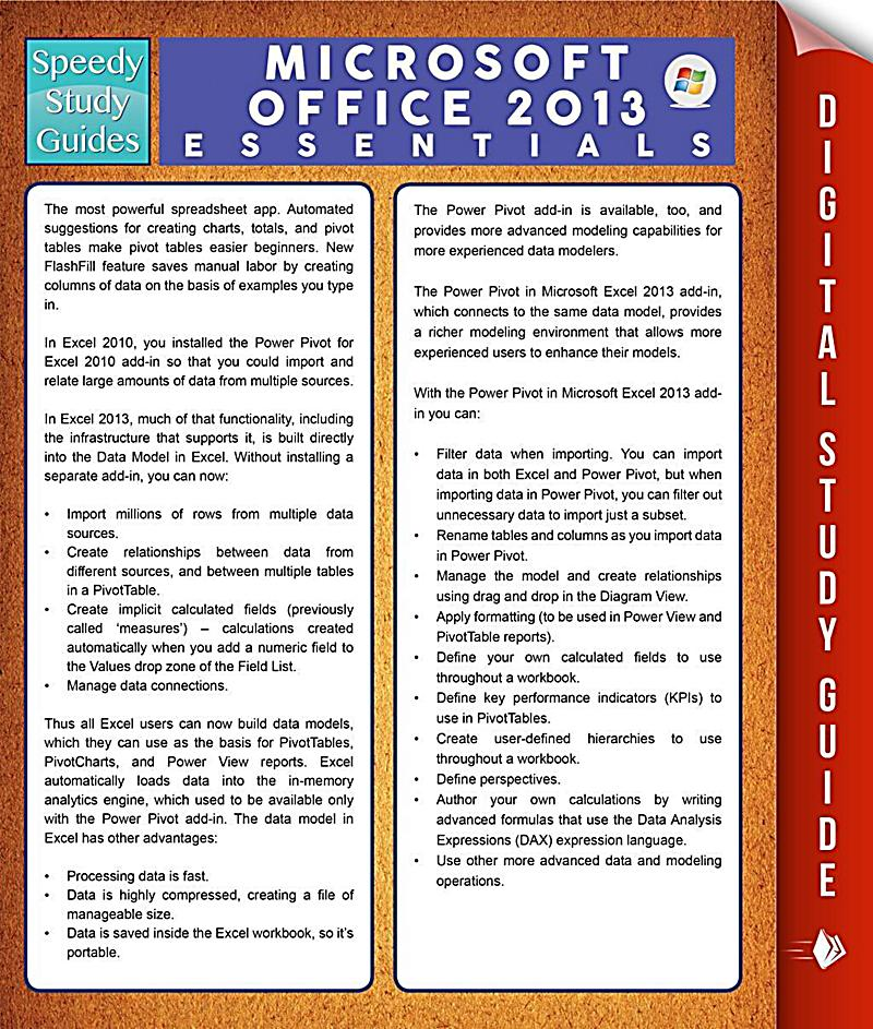 study guide 2013 Demonstrate your expertise with microsoft office designed to help you practice and prepare for the 2013 powerpoint microsoft office specialist (mos) exam, this all-in-one study guide features: full, objective-by-objective exam coverage easy-to-follow procedures and illustrations to review essential skills hands-on practice tasks to apply what you've learned files included use the in-depth.