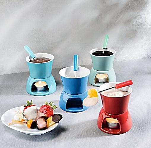 mini schoko fondue set 12 teilig jetzt bei bestellen. Black Bedroom Furniture Sets. Home Design Ideas