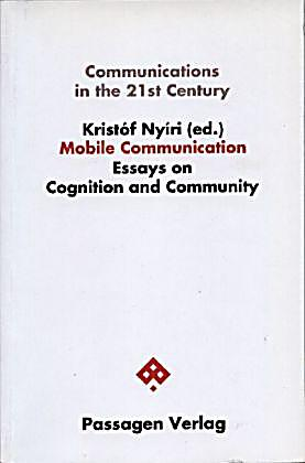 Mobile communication essays on cognition and community