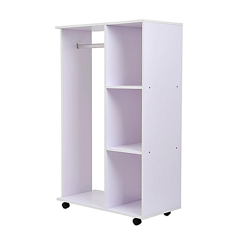 mobiler kleiderschrank mit integrierter kleiderstange farbe wei gr e 80 x 40 x 128 cm lxbxh. Black Bedroom Furniture Sets. Home Design Ideas