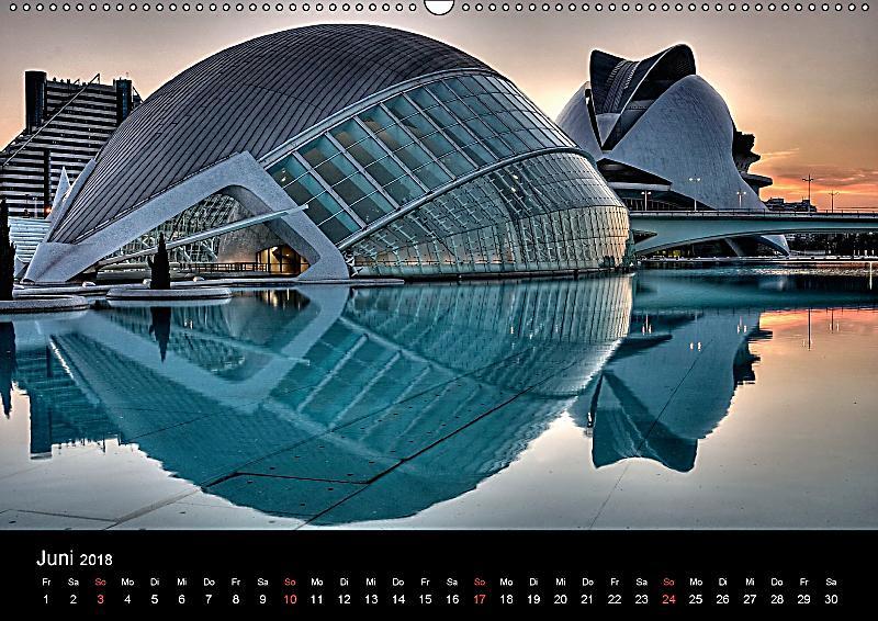 Moderne architektur in valencia wandkalender 2018 din a2 for Architektur valencia