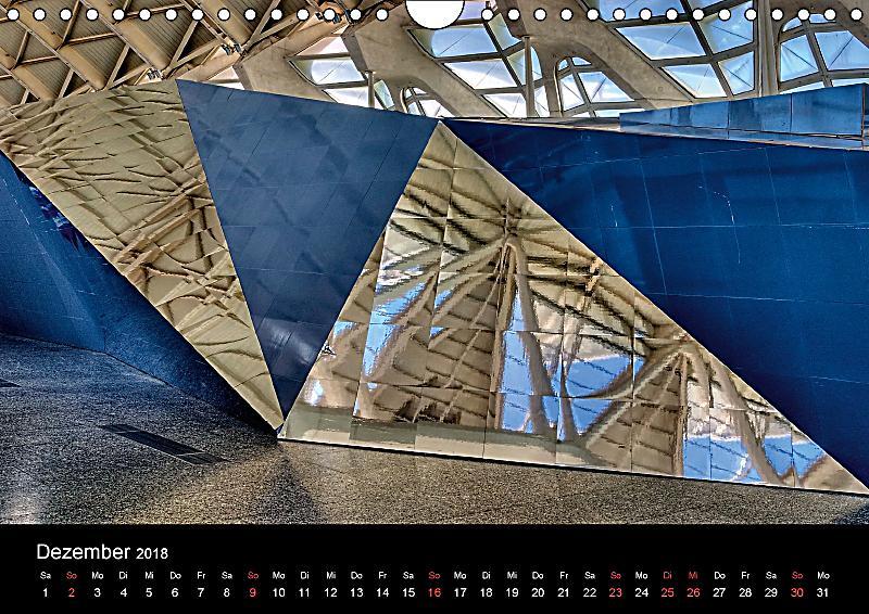 Moderne architektur in valencia wandkalender 2018 din a4 for Architektur valencia