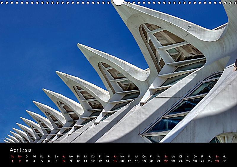 Moderne architektur in valencia wandkalender 2018 din a3 for Architektur valencia