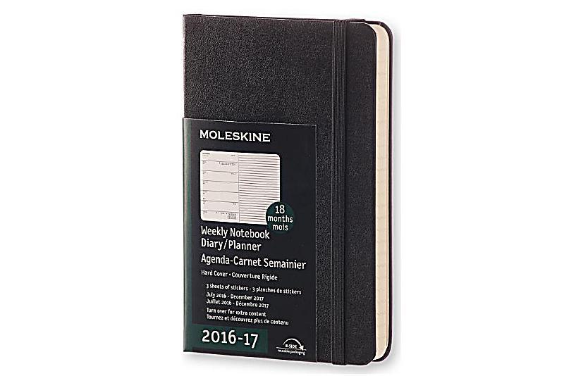 Moleskine wochen notizkalender p a6 hard cover schwarz for Agenda moleskine 2016 2017