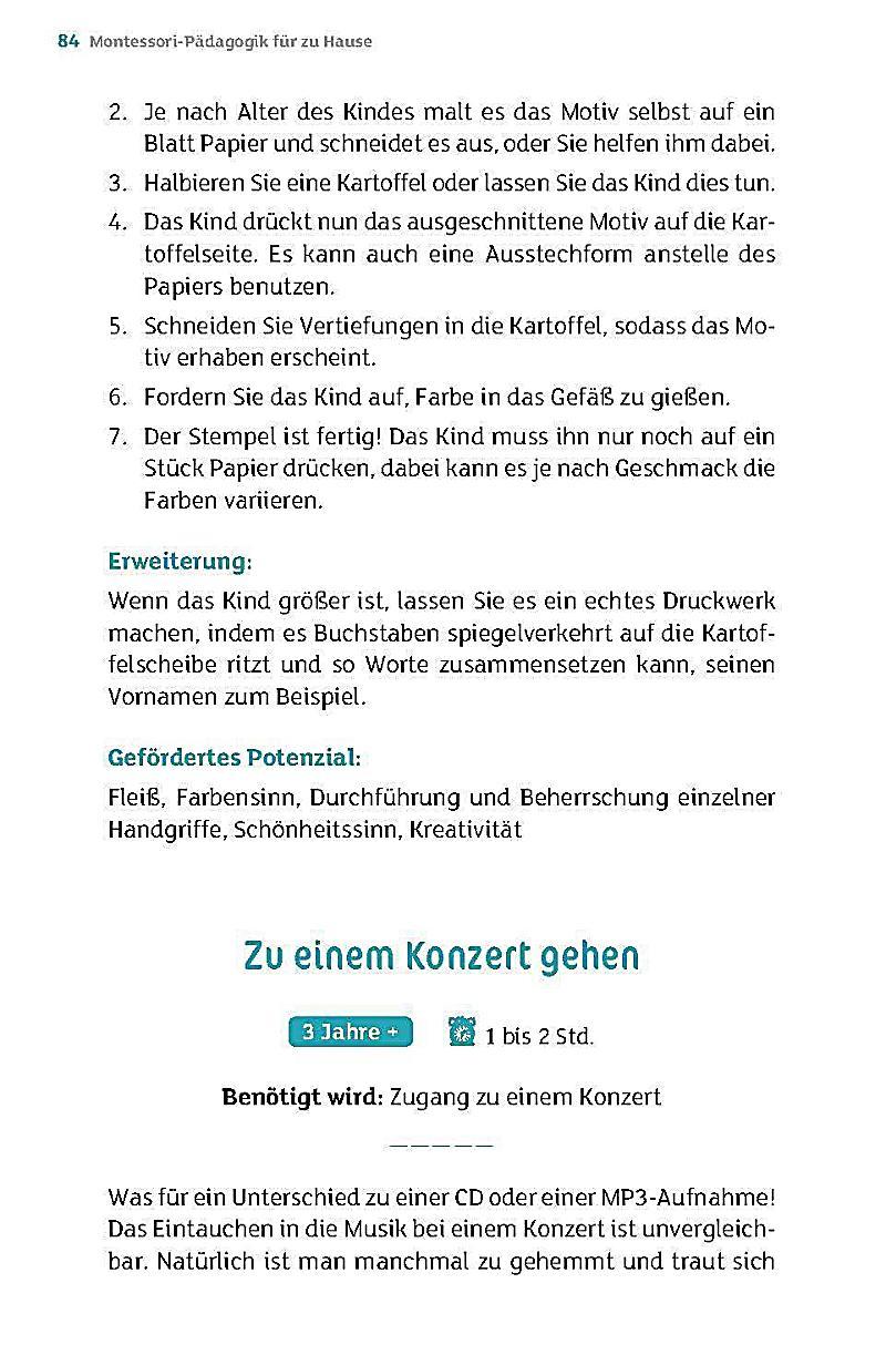 Montessori-Pädagogik für zu Hause Buch bei Weltbild.de bestellen