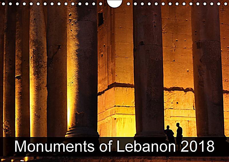 Calendar Lebanon : Monuments of lebanon wall calendar din a