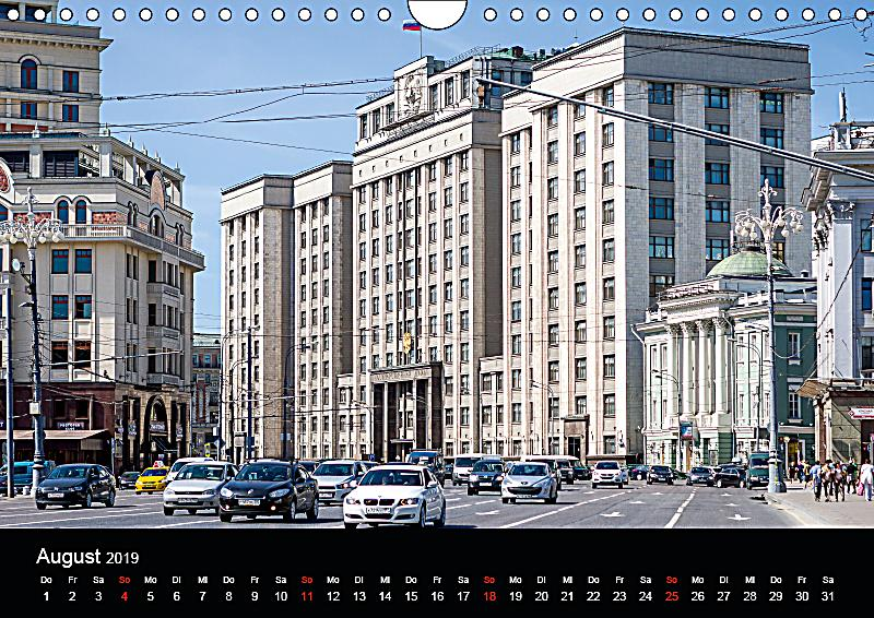 moskau 2019 wandkalender 2019 din a4 quer kalender bestellen. Black Bedroom Furniture Sets. Home Design Ideas