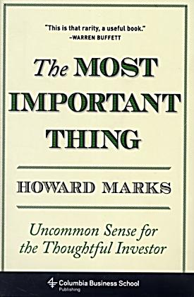 the most important thing illuminated by howard marks pdf