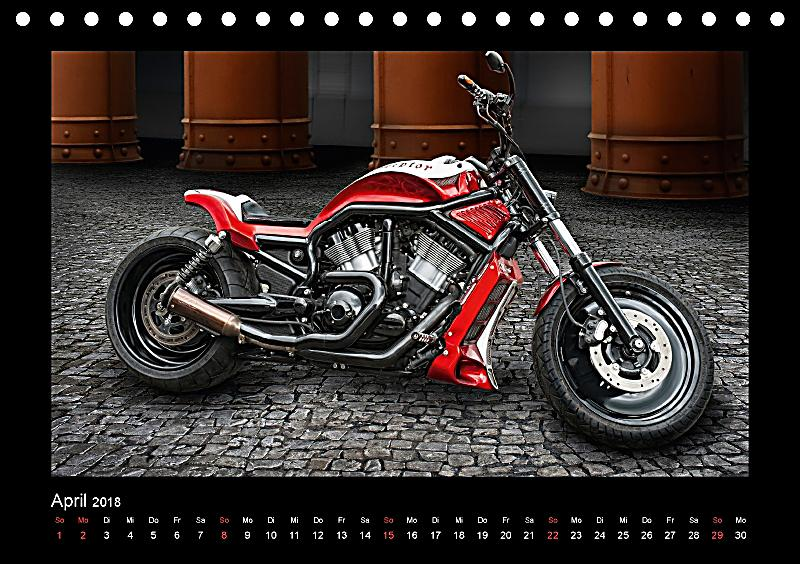 motorrad tr ume chopper und custombikes tischkalender 2018 din a5 quer kalender bestellen. Black Bedroom Furniture Sets. Home Design Ideas