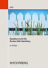 Nachbarrecht Nrr Fur Baden Wurttemberg Kommentar Buch Portofrei