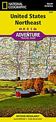 National Geographic Adventure Map United States, Northeast Buch
