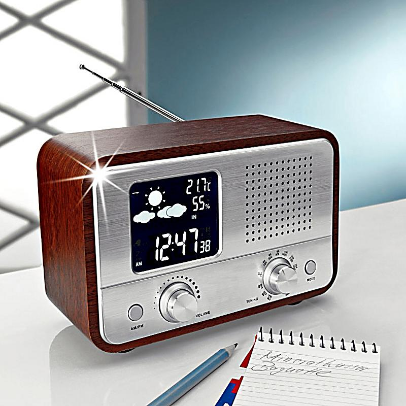 nostalgie radio mit wetterstation jetzt bei. Black Bedroom Furniture Sets. Home Design Ideas