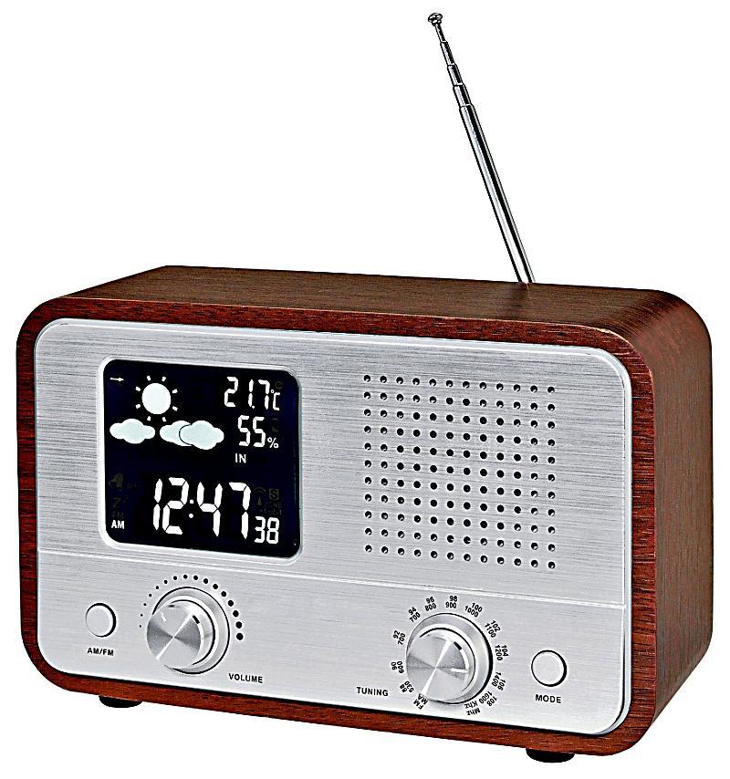 nostalgie radio mit wetterstation jetzt bei bestellen. Black Bedroom Furniture Sets. Home Design Ideas