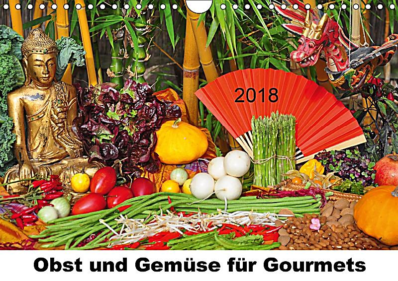 obst und gem se f r gourmets wandkalender 2018 din a4 quer. Black Bedroom Furniture Sets. Home Design Ideas