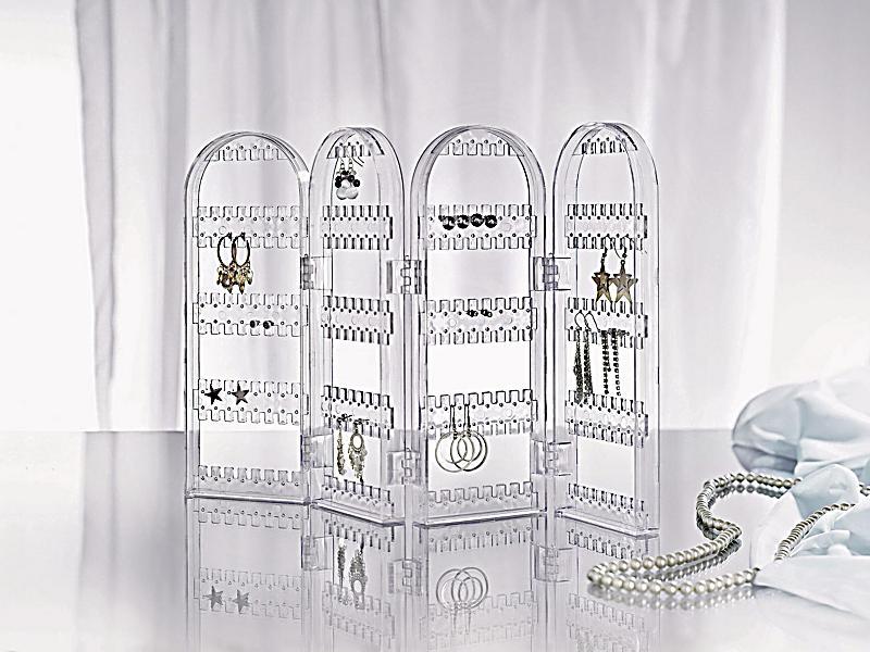 ohrringhalter paravent kunststoff transparent. Black Bedroom Furniture Sets. Home Design Ideas