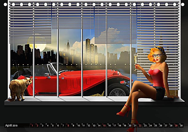 oldtimer und pin up girls by mausopardia tischkalender. Black Bedroom Furniture Sets. Home Design Ideas