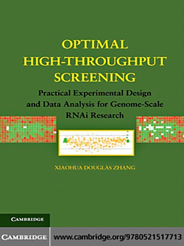 Optimal High Throughput Screening Ebook Jetzt Bei