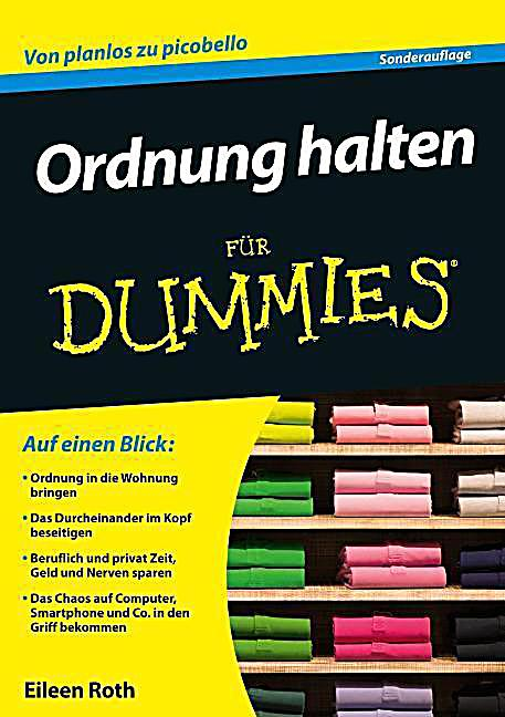ordnung halten f r dummies buch portofrei bei. Black Bedroom Furniture Sets. Home Design Ideas