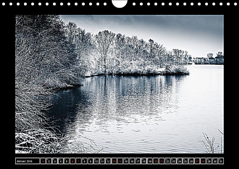 outdoor natur und landschaftsbilder in schwarz weiss wandkalender 2018 din a4 quer kalender. Black Bedroom Furniture Sets. Home Design Ideas