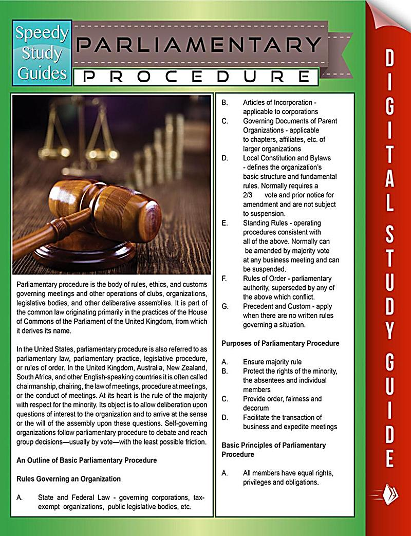 Parliamentary Procedure Charts and Handouts