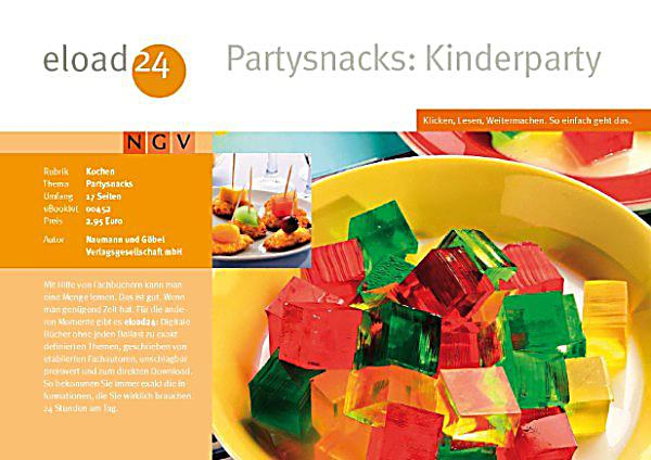 partysnacks kinderparty ebook jetzt bei. Black Bedroom Furniture Sets. Home Design Ideas