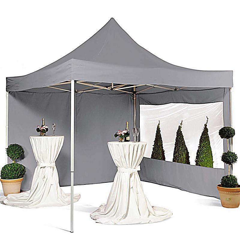 pavillon arabica faltbar aus polyester 3x3m grau. Black Bedroom Furniture Sets. Home Design Ideas