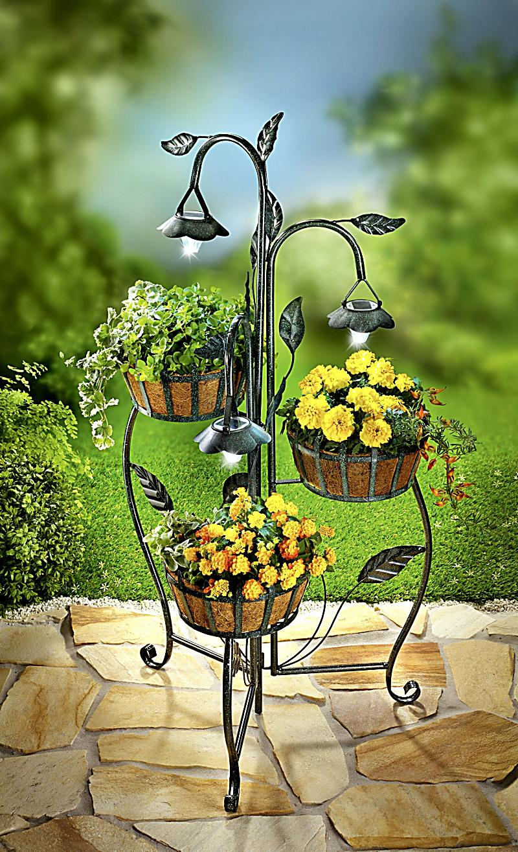 pflanzetagere mit solar jetzt bei bestellen. Black Bedroom Furniture Sets. Home Design Ideas