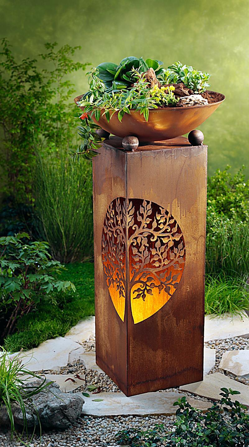 Pflanzs ule mit schale albero bei weltbild bestellen for Gartendeko bestellen