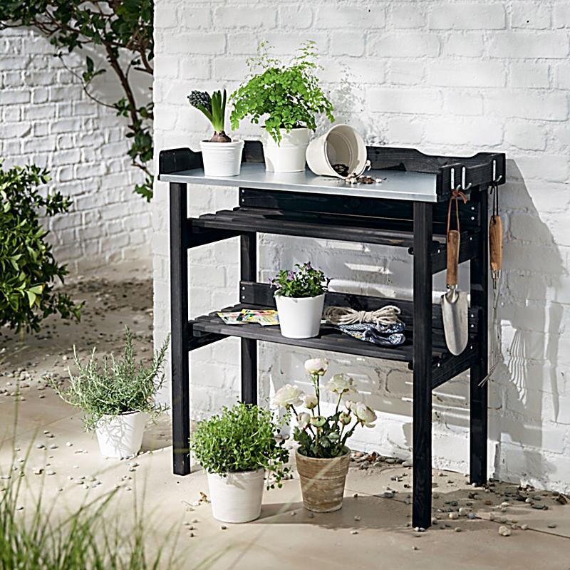 pflanztisch schwarz jetzt bei bestellen. Black Bedroom Furniture Sets. Home Design Ideas