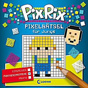 Pix Rix: Pixelrätsel für Jungs Fortgeschrittene Buch ...