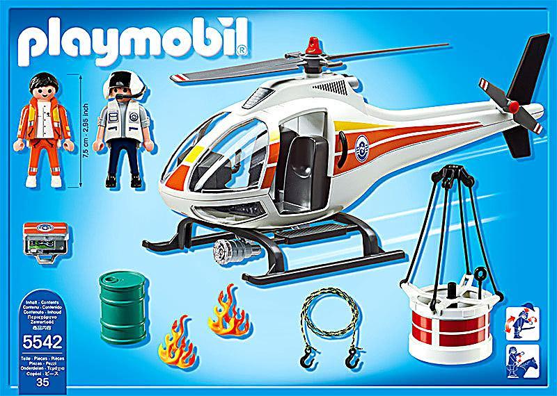 Playmobil 5542 city action l schhubschrauber - Playmobil samu ...