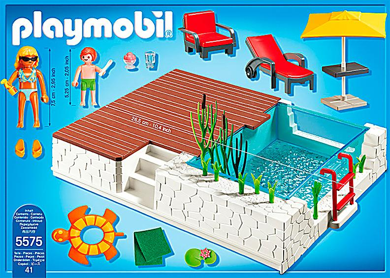 playmobil 5575 city life einbau swimmingpool. Black Bedroom Furniture Sets. Home Design Ideas