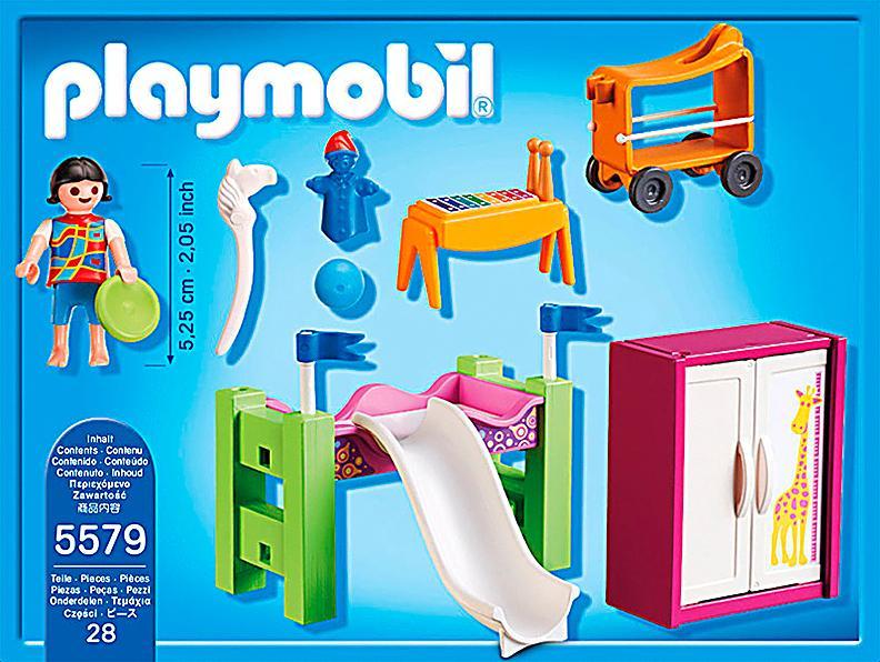 Playmobil 5579 city life kinderzimmer mit hochbett for Kinderzimmer playmobil