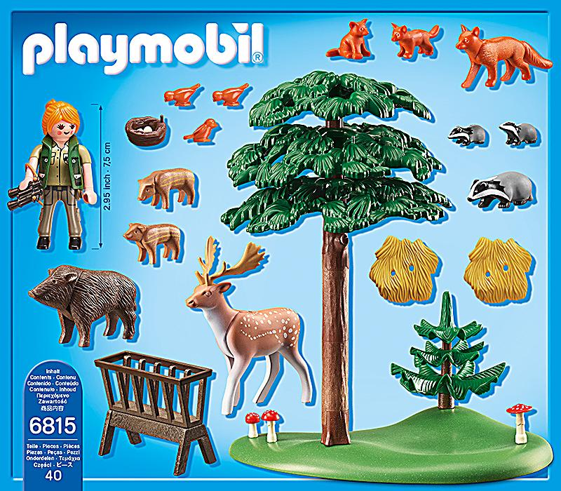 Playmobil 6815 country waldlichtung mit tierf tterung for Casa del arbol playmobil carrefour