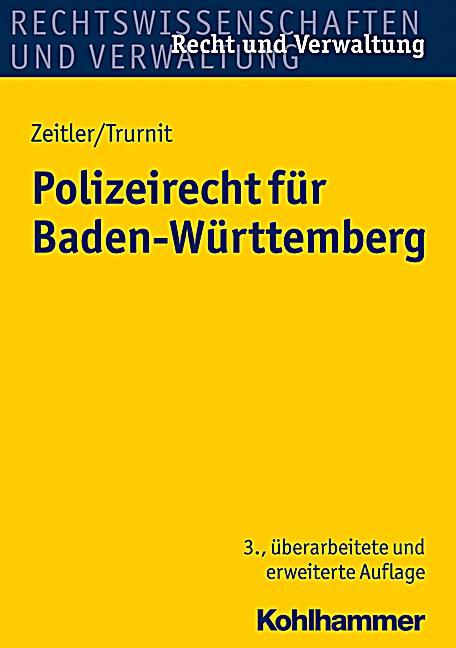 Polizeirecht für Baden-Württemberg Buch portofrei bei ...