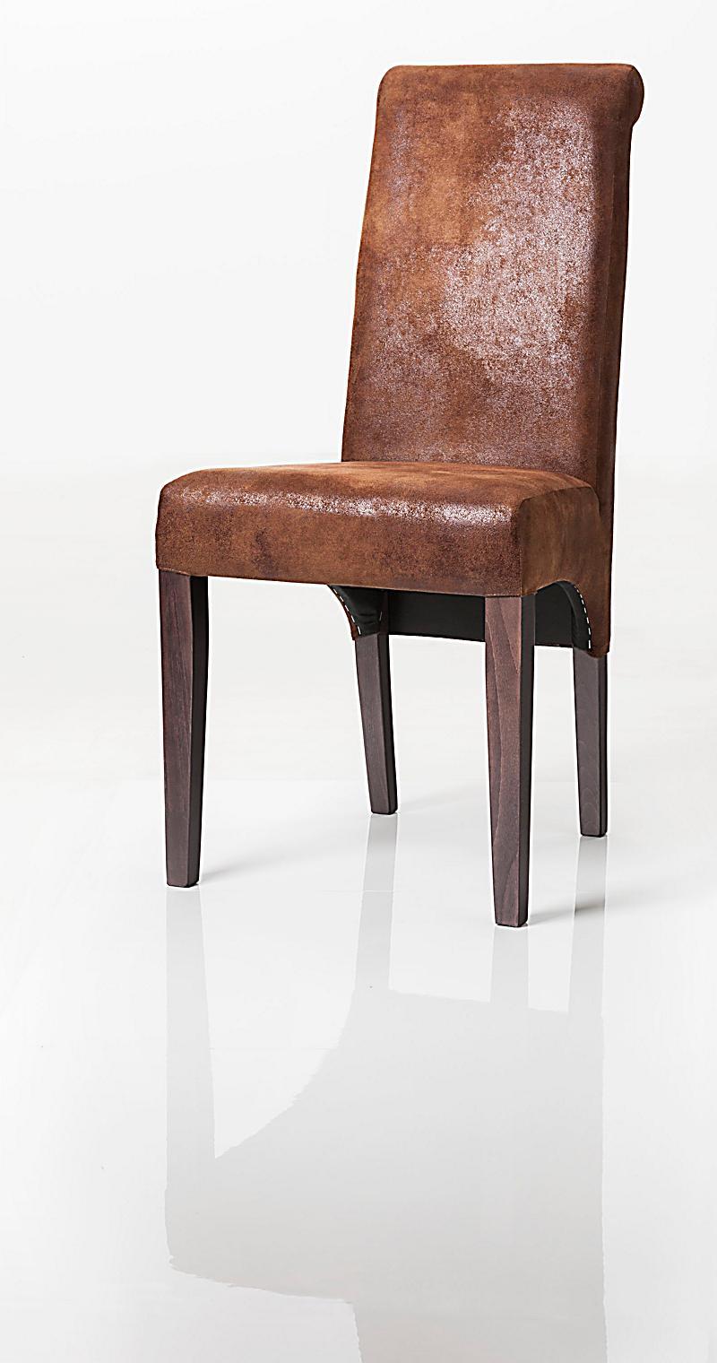 polsterstuhl pia vintage braun jetzt bei bestellen. Black Bedroom Furniture Sets. Home Design Ideas
