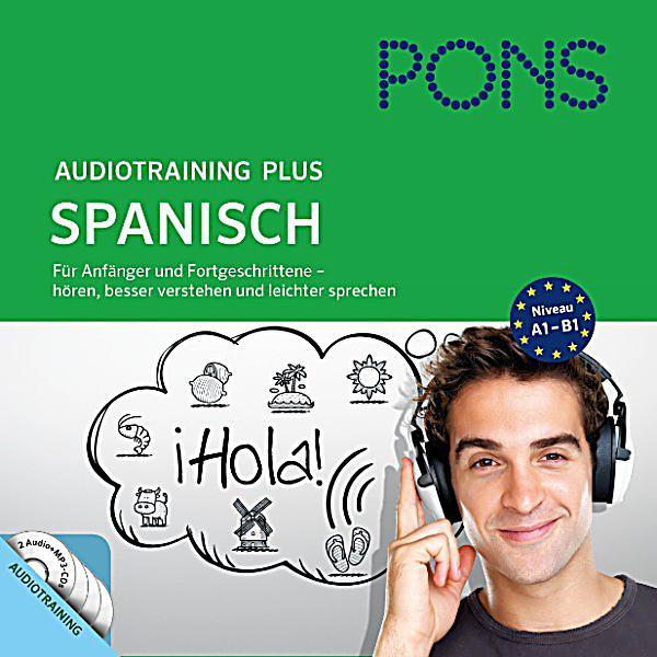 pons audiotraining pons audiotraining plus spanisch f r anf nger und fortgeschrittene. Black Bedroom Furniture Sets. Home Design Ideas