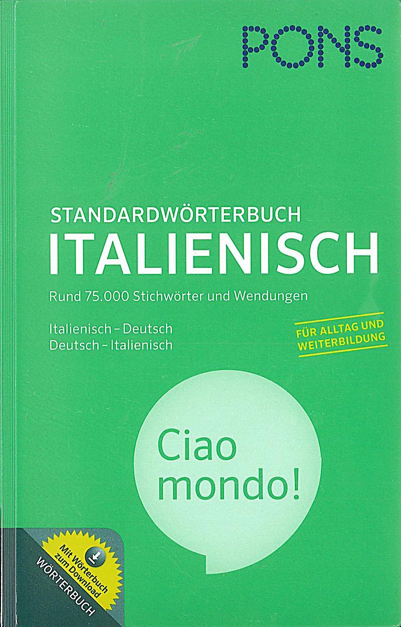 pons standardw rterbuch italienisch buch bestellen. Black Bedroom Furniture Sets. Home Design Ideas