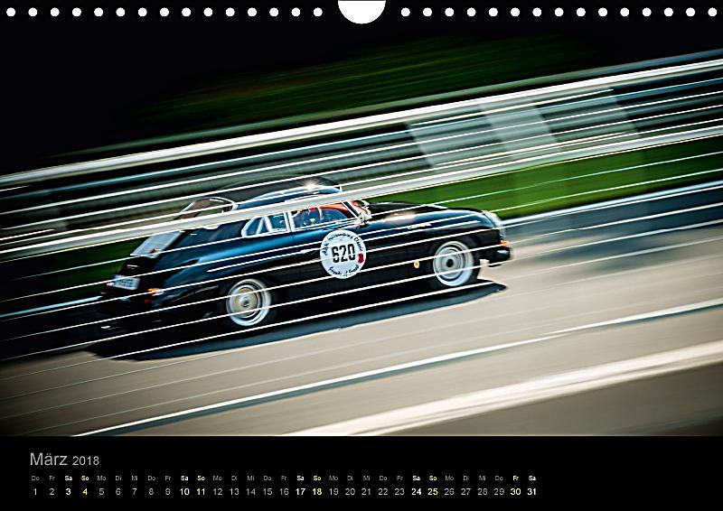 porsche 356 racing wandkalender 2018 din a4 quer. Black Bedroom Furniture Sets. Home Design Ideas