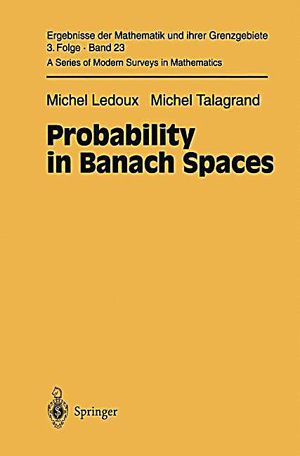 probability in banach spaces isoperimetry and processes pdf