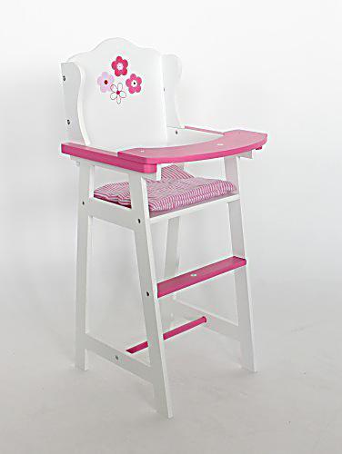 pu hochstuhl holz weiss rosa jetzt bei bestellen. Black Bedroom Furniture Sets. Home Design Ideas