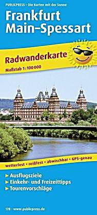 Publicpress radwanderkarte frankfurt main spessart buch for Lagerverkauf frankfurt