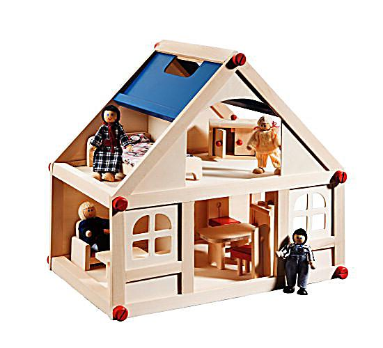 puppenhaus holz jetzt bei bestellen. Black Bedroom Furniture Sets. Home Design Ideas